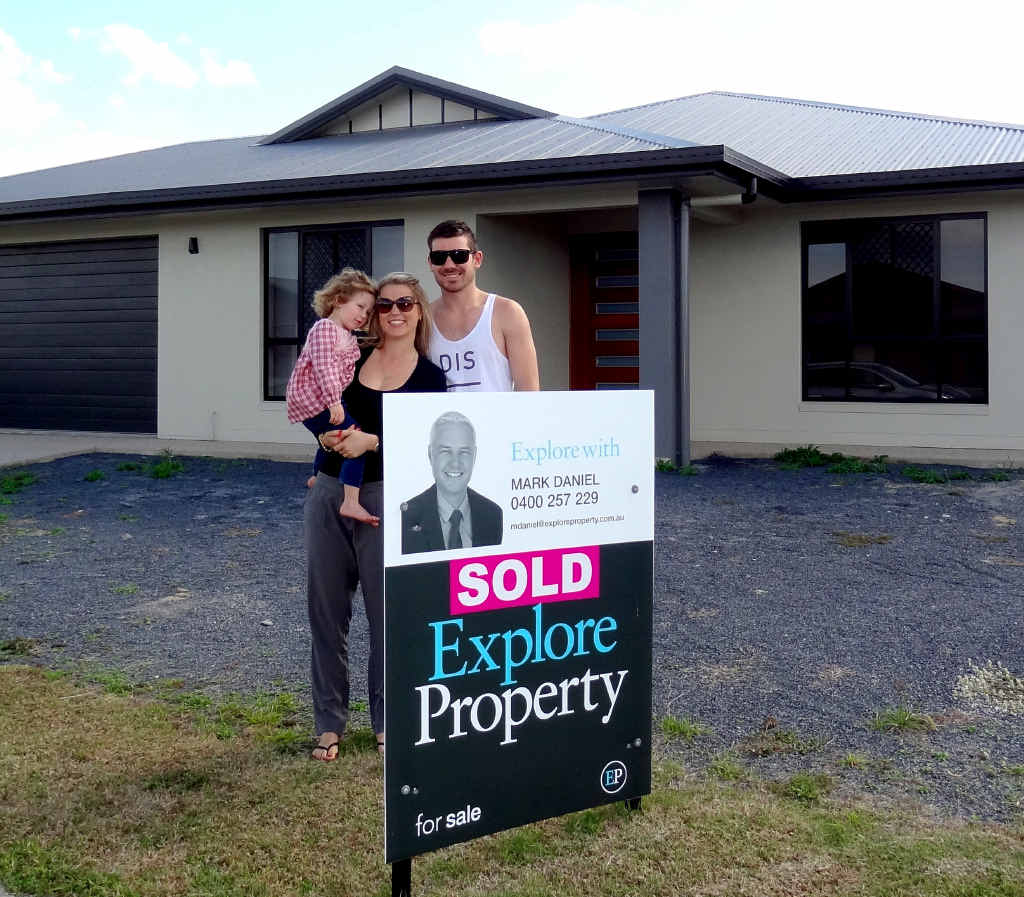 MOVED IN: First-home buyer Lloyd Franettovich and girlfriend Chelsea Streeter have truly settled into owning their first home, purchased in June.