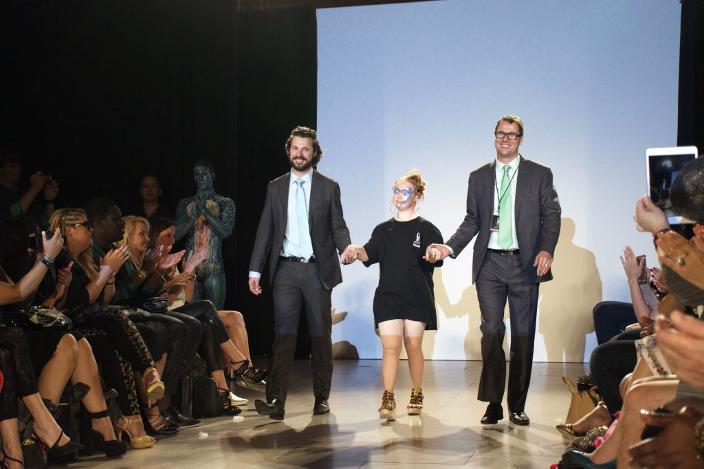 Madeline Stuart, now the world's most famous model with Down syndrome, conquered the New York Fashion Week catwalk at Grand Central's Vanderbilt Hall as part of the FTL Moda presentation of international designers. Photo Contributed