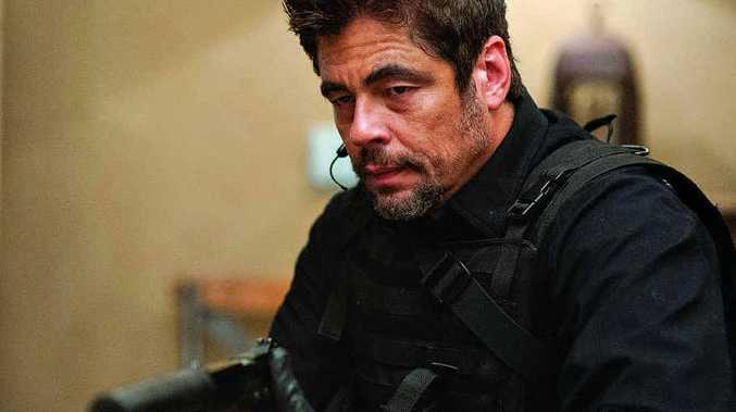 Benicio Del Toro in a scene from the movie Sicario.