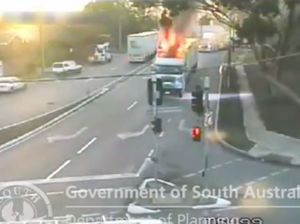 Truck fire in Adelaide
