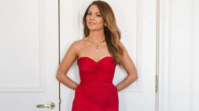 Sam Frost stars in the TV series The Bachelorette.