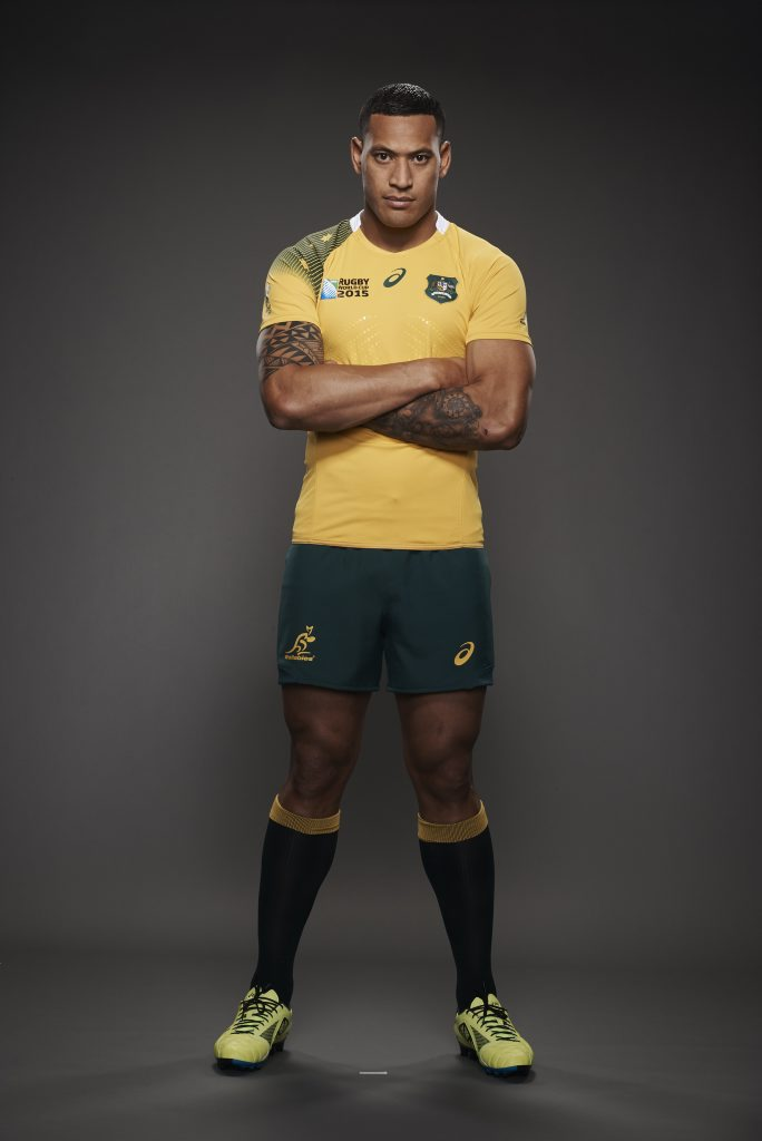 Israel Folau will represent Australia as a member of the 2015 Wallabies Rugby World Cup squad.