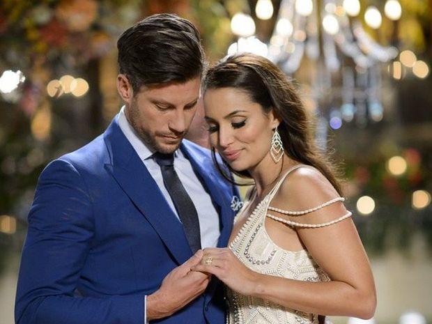 The Bachelor Sam Wood with winner Snezana Markoski.