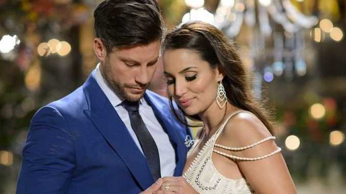 The Bachelor Sam Wood with winner Snezana Markoski.
