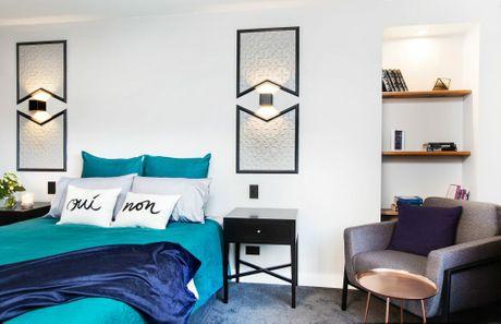 Luke and Ebony's guest bedroom.