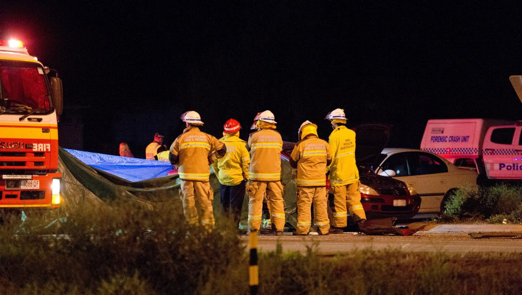 HORROR CRASH: Double fatality at Helidon Spa on Warrego Highway.