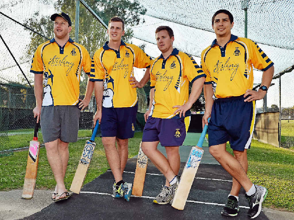 NEW JERSEYS: Stirling Homes Gympie Gold XI players Dean Chandler, Kaden Dickfos, Lewis Waugh and Anthony Reid.