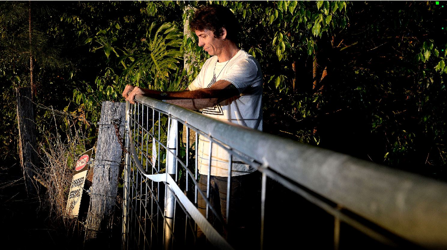HAPPY TO BE ALIVE: Mitchell Fow was struck by lightning at his Mullumbimby property during Wednesday night's storm. Mireille Merlet-Shaw