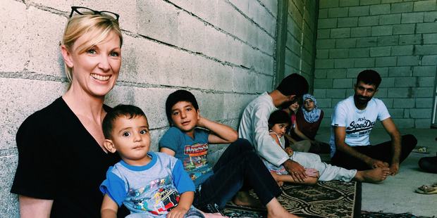 Mohammed was happy with his family in Turkey. Photo / Jo Currie, World Visions