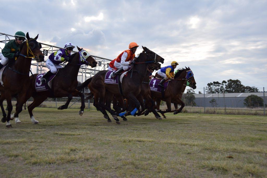 Jockeys and horses set off for the final race. Photo Keagan Elder / South Burnett Times