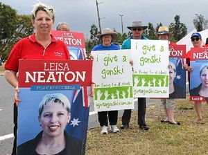 Political rivals hit the road