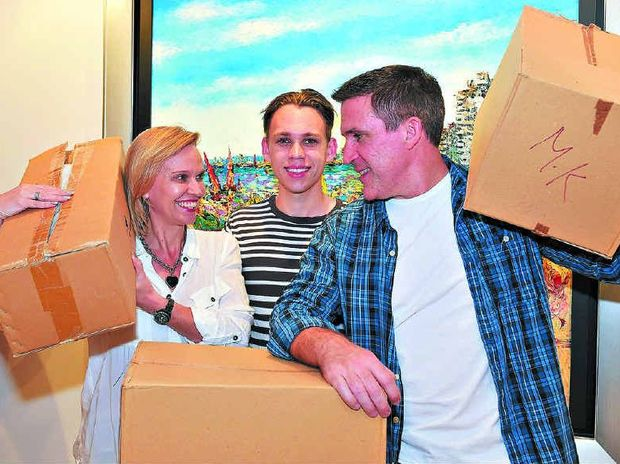 NEW HORIZONS: David and Christine Hart with son Harrison are packing up and moving to Miami.
