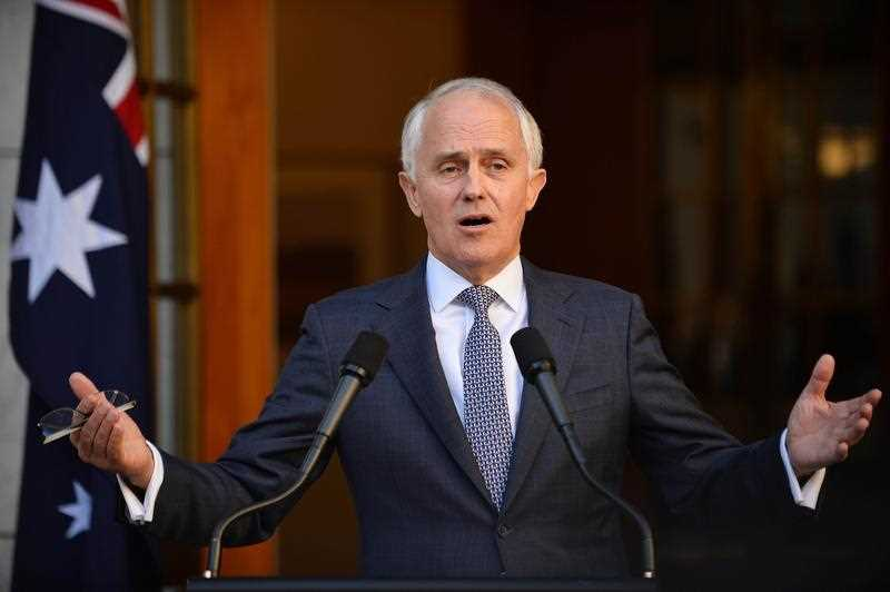 New Australian Prime Minister Malcolm Turnbull answers a question after announcing his new cabinet at a press conference in Canberra on September 20, 2015. Turnbull announced the cabinet reshuffle, promoting more women to key positions just days after he ousted Tony Abbott in a party coup.