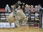 PBR Bull Riding Blow out - Mitch Paton on Mile High Photo Tony Martin / Daily Mercury