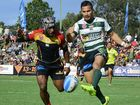 TOUCH OF CLASS: Jets speedster Marmin Barba delivers one of his dangerous kicks during Sunday's Queensland Cup preliminary final win over the PNG Hunters at Wynnum.