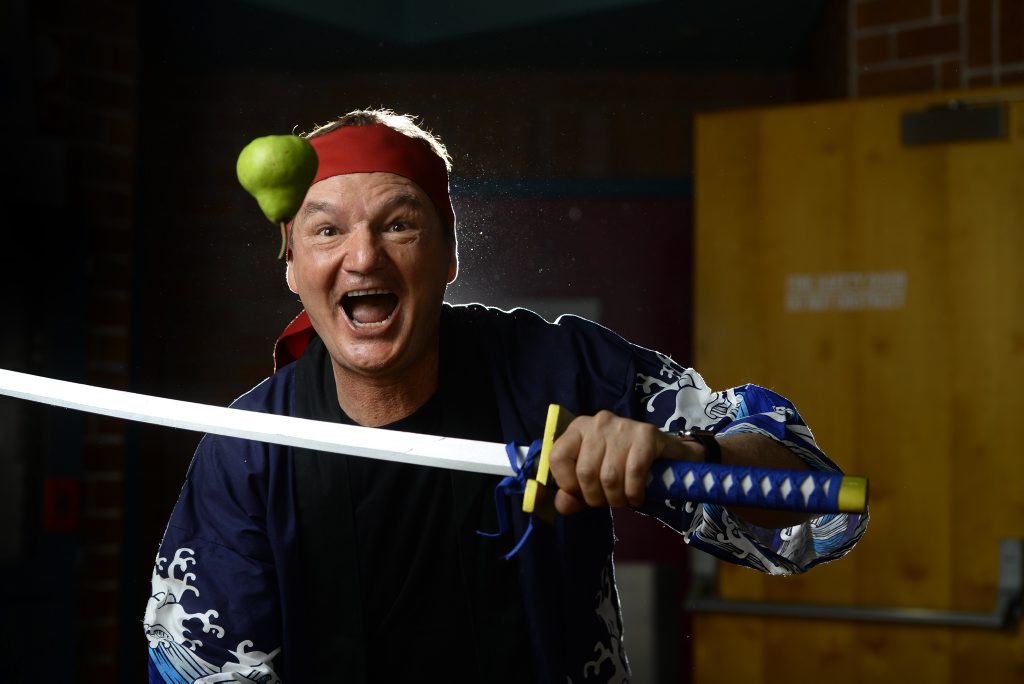Paul Pisasale is calling on Ipswich locals to embrace the creation of apps like Fruit Ninja. Photo: Rob Williams / The Queensland Times