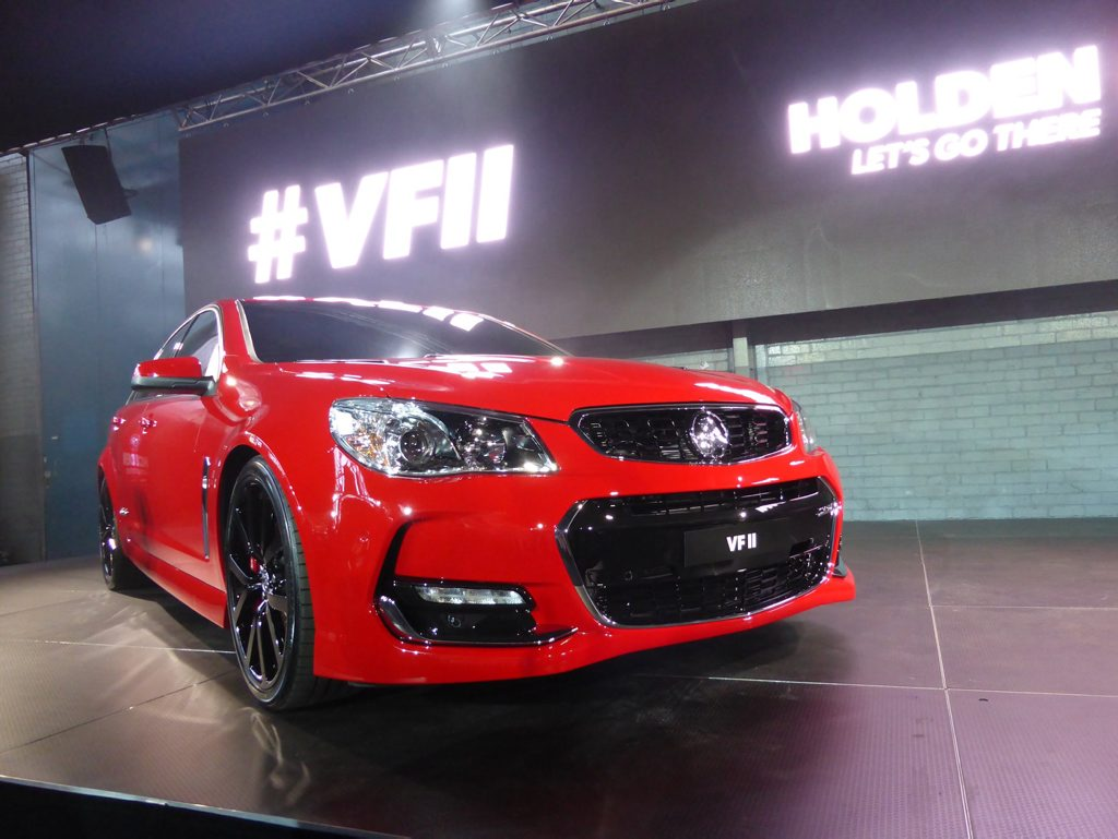New VFII Commodore at a gathering of every variant of Holden Commodore at the Holden plant in Port Melbourne. Photo: Iain Curry / Sunshine Coast Daily