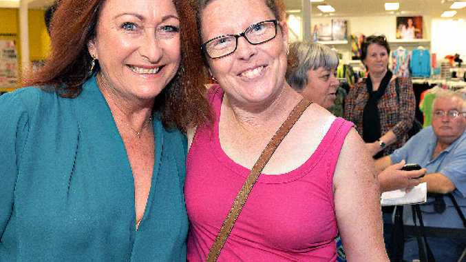 TV STAR: Kelli Briese meets Home and Away star Lynne McGranger at Sugarland Shoppingtown.