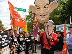 Unions hit street to defend Ipswich workers' penalty rates