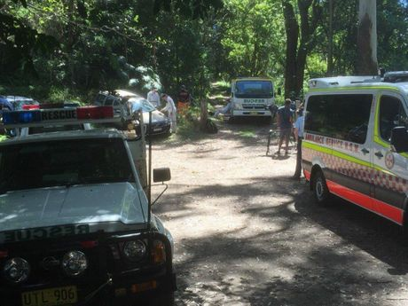 A 73-year-old man was rescued after falling from a ledge on Mount Cougal on Monday afternoon.