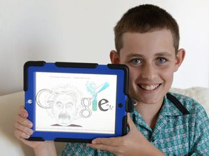 Samuel beats 26,000, impresses Google with clever logo