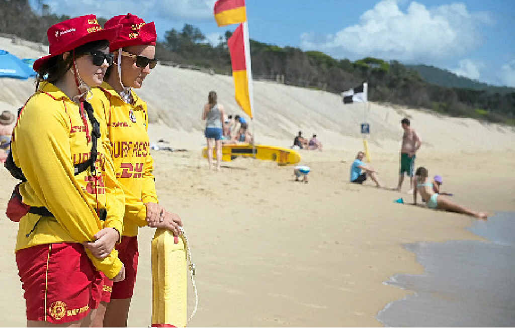 AT THE READY: Volunteer patrols on local beaches have started in time for the school holidays.