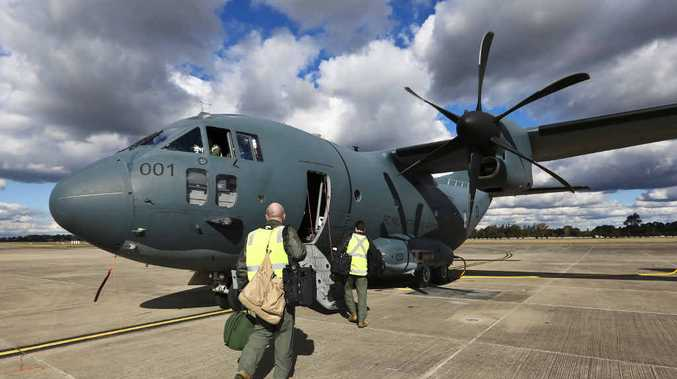 NEW HOME: The first of 10 C-27J Spartan battlefield airlifters has arrived at RAAF Base Richmond. No 35 Squadron is set to call Amberley home.