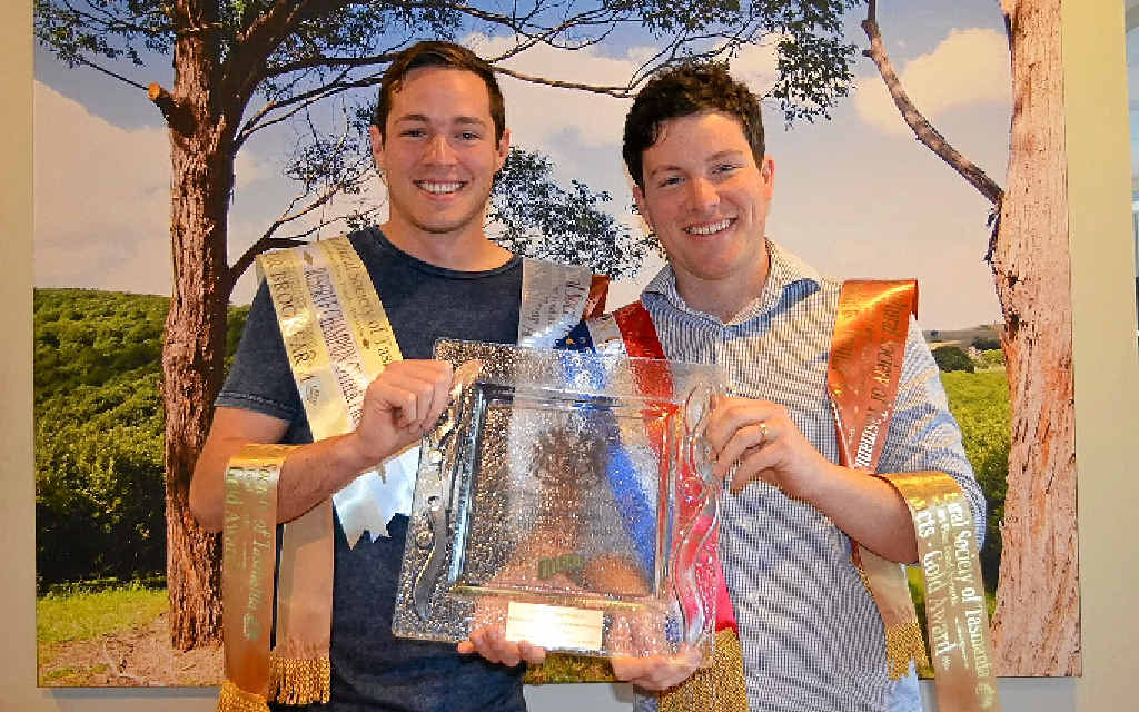 PROUD BROTHERS: Eddie and Will Brook were crowned Champions for their gourmet nut mix.