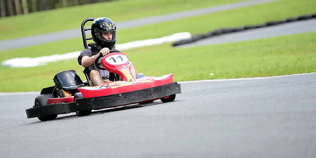 V-ROOOOOOOOM: Racing action from The Big Kart Track, Landsborough.