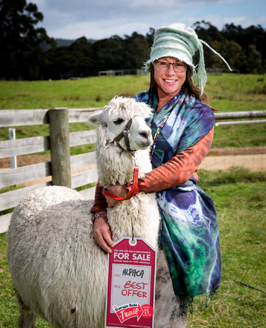You might not have a cute alpaca for sale like Sally McDonald last year, but it's likely that you have lots of clutter you'd like to lose in the 2015 Garage Sale Trail.