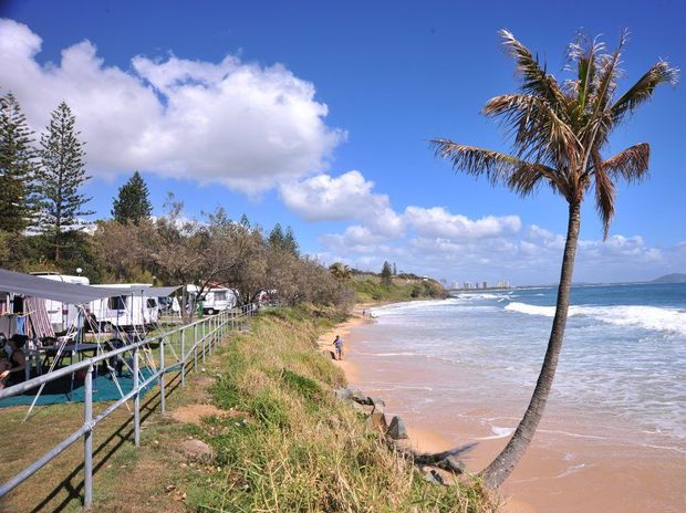 Bookings are in high demand at Mooloolaba's popular caravan park.