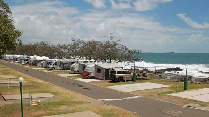 For Then and Now book: Caravan park at northern end of Mooloolaba Beach. Photo: Brett Wortman / Sunshine Coast Daily