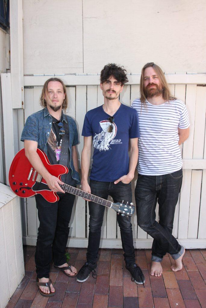 Thirsty Merc's Matt Smith, Rai Thistlethwayte and Phil Stack. Photo Kristy Muir / Sunshine Coast Daily