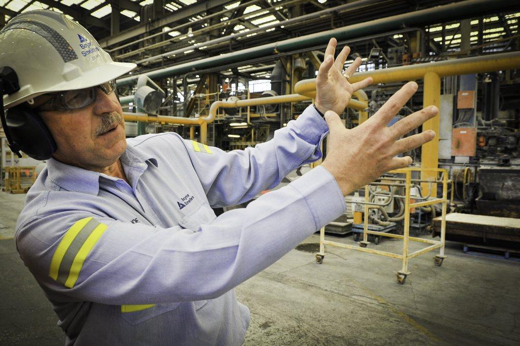Boyne Smelters Ltd general manager Joe Rea.