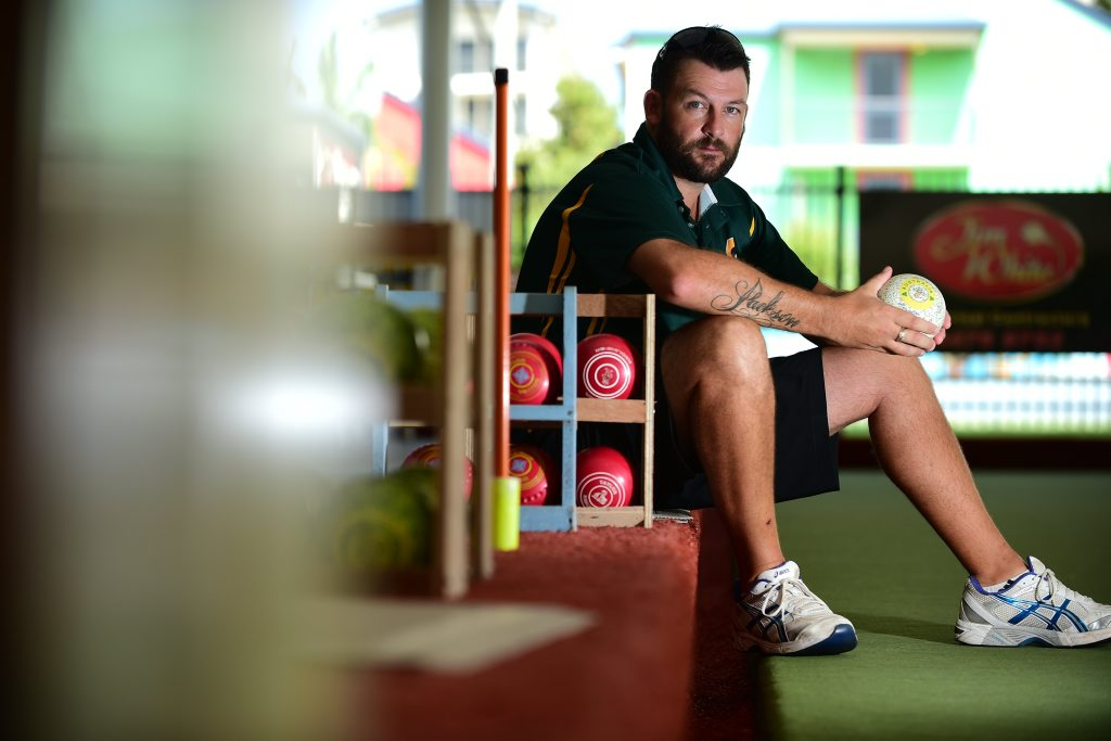 Mark Casey, Australian international bowls player, pictured at Mooloolaba Bowls Club. Photo: Iain Curry / Sunshine Coast Daily