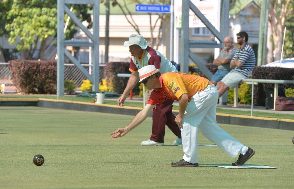 Ross Blanchard from Mackay City Bowls Club Photo Tony Martin / Daily Mercury