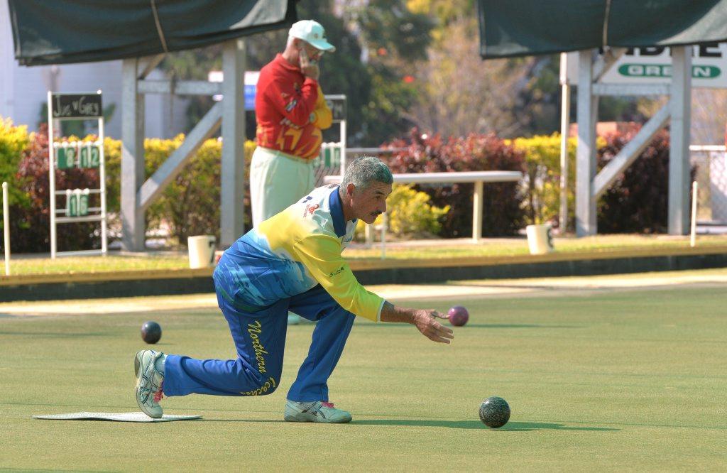 John Shepherd from Northern Beaches Bowls Club Photo Tony Martin / Daily Mercury
