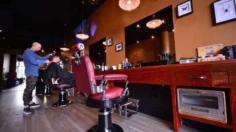 Logan's classic barber shop at Mooloolaba
