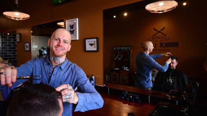 Logan Warren has set up a classic berber shop, Logan's Barber Shop in Mooloolaba. Photo: John McCutcheon / Sunshine Coast Daily