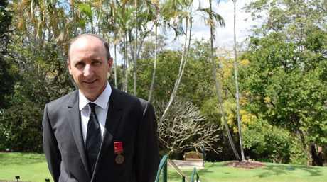 Toowoomba flood hero Chris Skehan won a Bravery Award for rescuing Blake Rice in 2011. Photo: Geoff Egan / APN Newsdesk