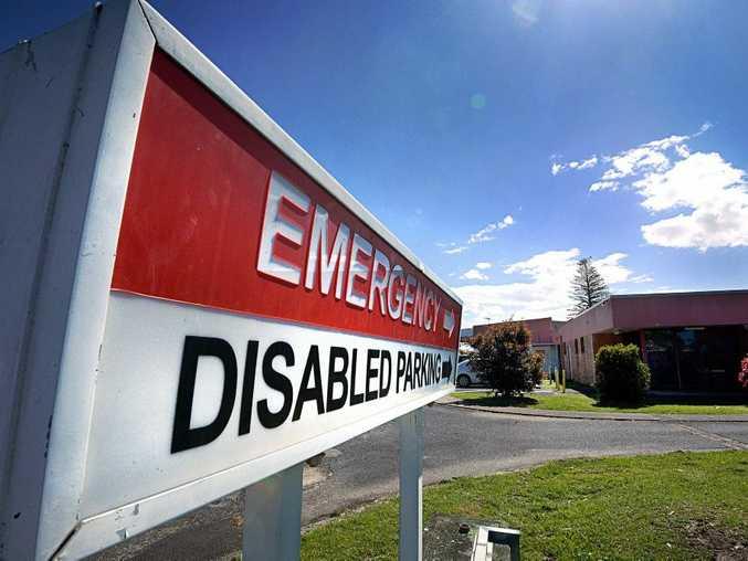 Ballina Hospital, emergency entry. Photo Cathy Adams / The Northern Star