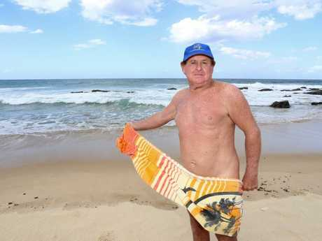 FED UP: Mark Hayter from Free Beach Australia is frustrated police keep fining nudists at A-Bay.