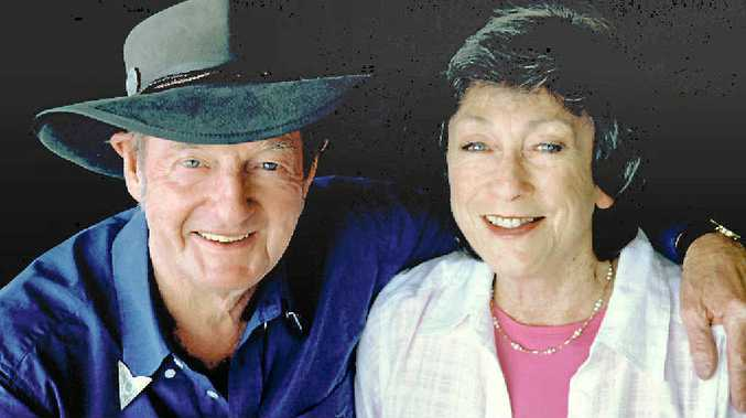 STILL POPULAR: The late Slim Dusty pictured with his wife Joy McKean.