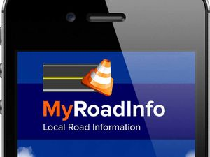 Phone app providing local road information