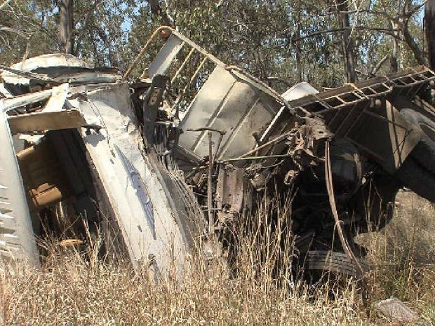 TRUCK ACCIDENT: A truck accident 30km out of Eidsvold on the Burnett Hwy left one Biloela man lucky to be alive.