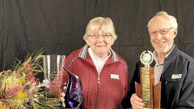 GREAT GARDEN: Winners of the Australian Native Garden in The Chronicle Garden Competition are Jan and Ken Mathiesen of 5 Strathdarr Dv, Torrington.