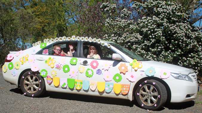 Winner of the Carnival of Flowers car decoration competition is Kristy Stark.