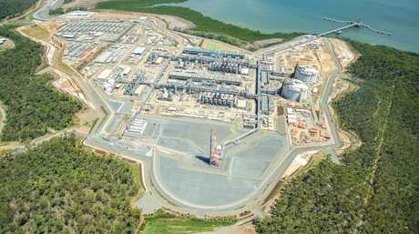Santos GLNG aerial February 2015. Photo Contributed