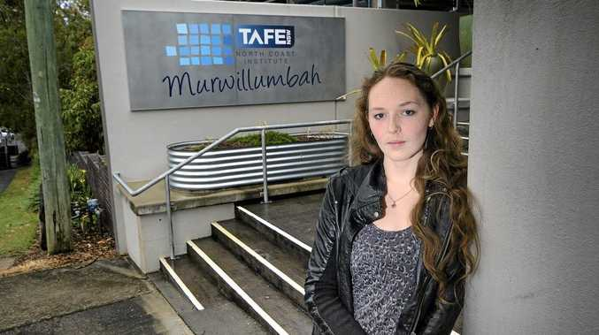Murwillumbah resident Elly McGarn doesn't want to see Murwillumbah's TAFE campus close. She has studied there in the past and hopes to return, but believes the lack of a central campus would make study more difficult. Photo: Liana Turner / Tweed Daily News