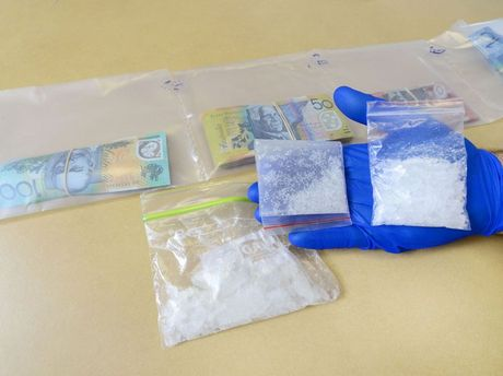 Ipswich Police seized a large quantity of drugs (Ice) and money after they pulled over a female driver in a stolen vehicle. Photo: David Nielsen / The Queensland Times